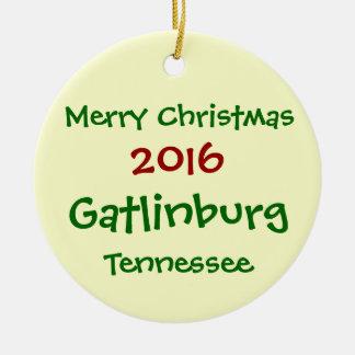 2016 Gatlinburg Tennessee MERRY CHRISTMAS ORNAMENT