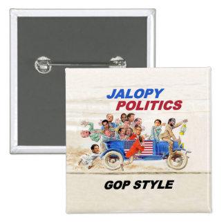 2016 GOP Clown Car 15 Cm Square Badge
