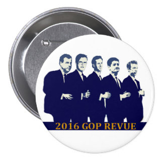 2016 GOP Presidential contenders 7.5 Cm Round Badge