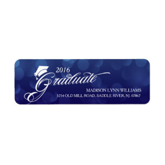 2016 Graduate Blue Bokeh Lights Graduation