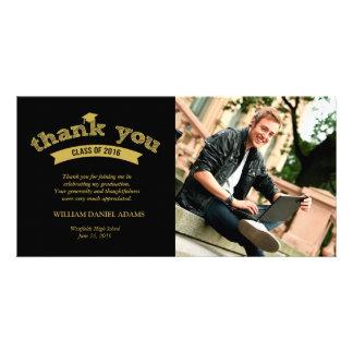 2016 Graduation Sketch Grad Thank You Photo Card