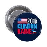 2016 Hillary Clinton Tim Kaine 6 Cm Round Badge