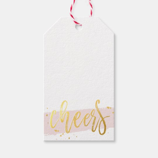 2016 HOLIDAY CHEERS hand lettered script gold pink