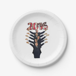 2016 Hopeful Republicans 7 Inch Paper Plate