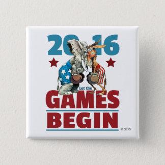 2016 - Let the Games Begin 15 Cm Square Badge