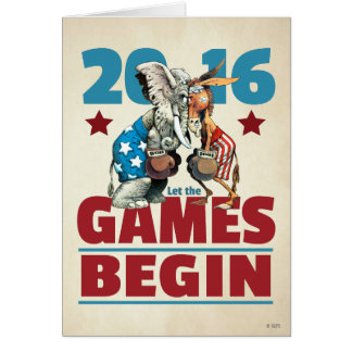 2016 - Let the Games Begin Card