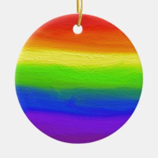 2016 LOVE = LOVE Rainbow Round Ceramic Decoration