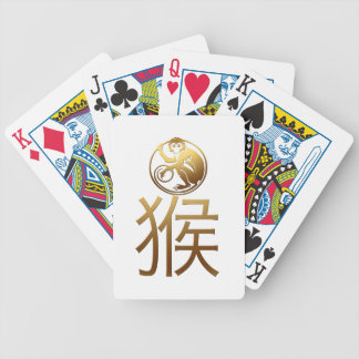2016 Monkey Year with Gold embossed effect -1- Bicycle Playing Cards