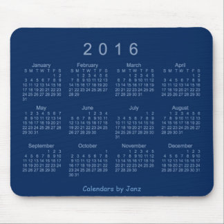 2016 Navy Calendar by Janz Mouse Pad