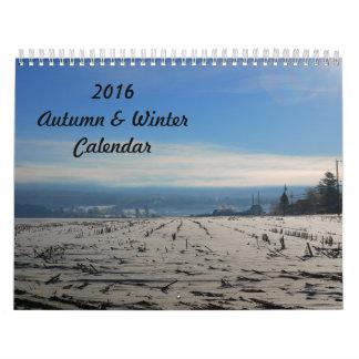 2016 New England Autumn n Winter Calendar