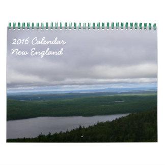 2016 New England Calendar