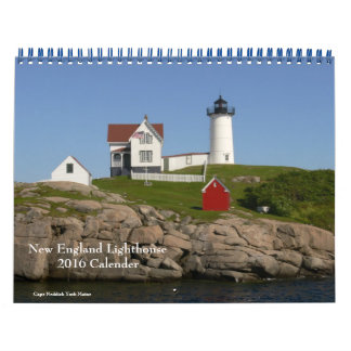 2016 New England Lighthouse-Calendar Calendar