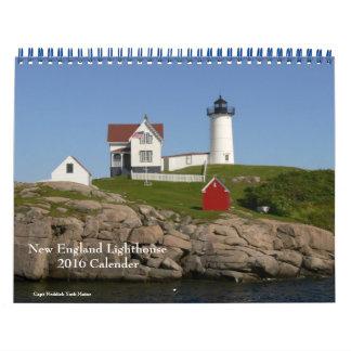 2016 New England Lighthouse-Calendar Calendar