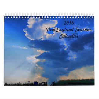 2016 New England Seasons Calendar