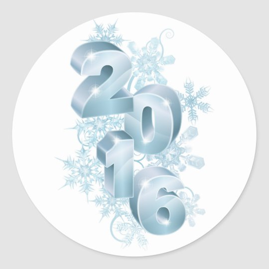 2016 New Year Christmas Decorations Classic Round Sticker