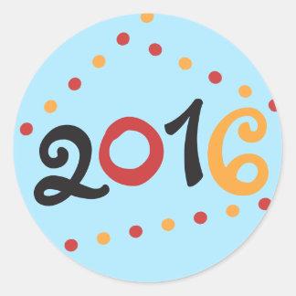 2016 New Years Round Sticker