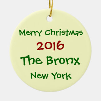 2016 NEW YORK THE BRONX MERRY CHRISTMAS ORNAMENT