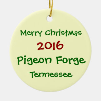 2016 Pigeon Forge Tennessee CHRISTMAS ORNAMENT