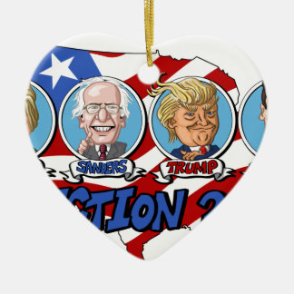 2016 Presidential Election Ceramic Heart Decoration