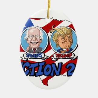 2016 Presidential Election Ceramic Oval Decoration