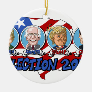 2016 Presidential Election Round Ceramic Decoration