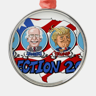 2016 Presidential Election Silver-Colored Round Decoration