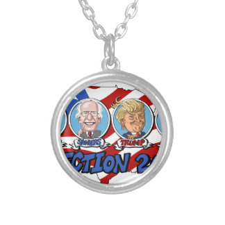 2016 Presidential Election Silver Plated Necklace