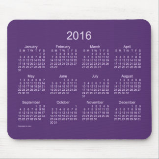 2016 Purple Neon Calendar by Janz Mousepad