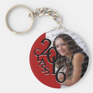 2016 Red Graduation Keepsake Basic Round Button Key Ring