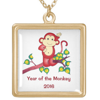 2016 Red Year of the Monkey Necklace