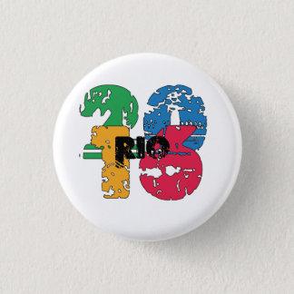 2016 Rio de Janeiro Brazil the Olympic Games 3 Cm Round Badge