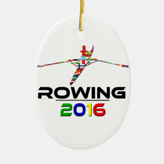 2016: Rowing Ceramic Oval Decoration