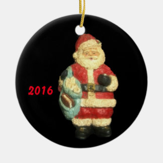 2016 SANTA WITH MAPS CHRISTMAS  ORNAMENT