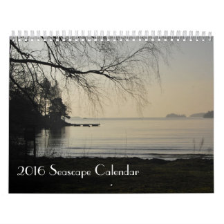 2016 Seascape Calendar, photos from Sweden Wall Calendars