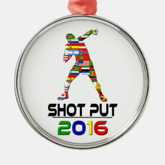 2016:Shot Put Silver-Colored Round Decoration