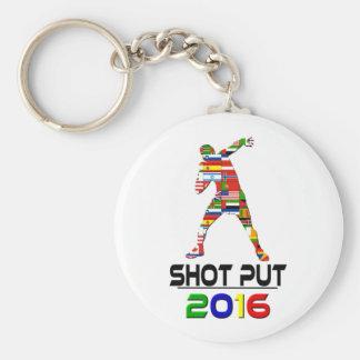 2016:Shotput Basic Round Button Key Ring