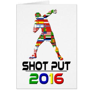 2016 Shotput Greeting Card
