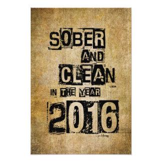 2016: Sober & Clean (12 step drug & alcohol free) Photo Print