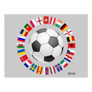 2016 Soccer Football European Championship Postcard