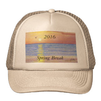 2016 SPRING BREAK SUNSET SEAGULL TRUCKER HAT