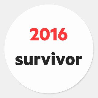 """""""2016 survivor"""" sticker"""
