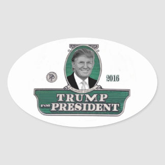 2016 Trump for President Oval Sticker
