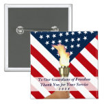 2016 Veterans Day-Military Thank You Sq 15 Cm Square Badge