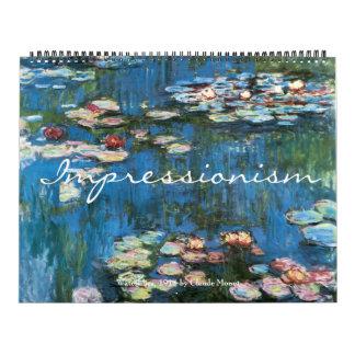 2016 Vintage Fine Art Impressionism Wall Calendar