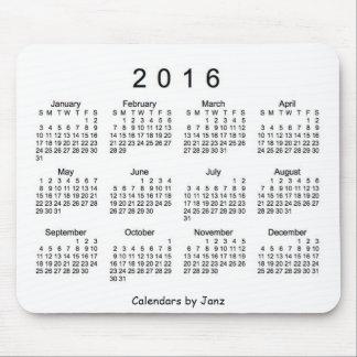 2016 White Calendar by Janz Mousepad
