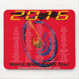 """2016 """"World Wide Radio Tour"""" Mouse Pad"""