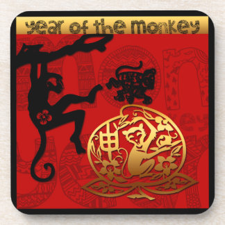 2016 Year of The Monkey Chinese New Year Coasters