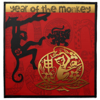 2016 Year of The Monkey Chinese New Year Napkin