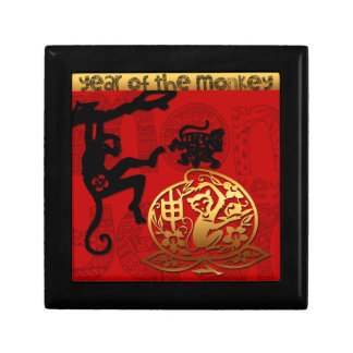 2016 Year of The Monkey Chinese New Year Small Square Gift Box
