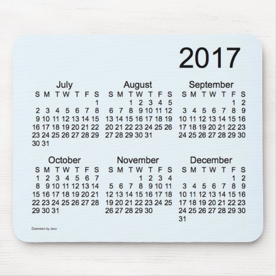 2017 Alice Blue Large Print Calendar by Janz Mouse Mat